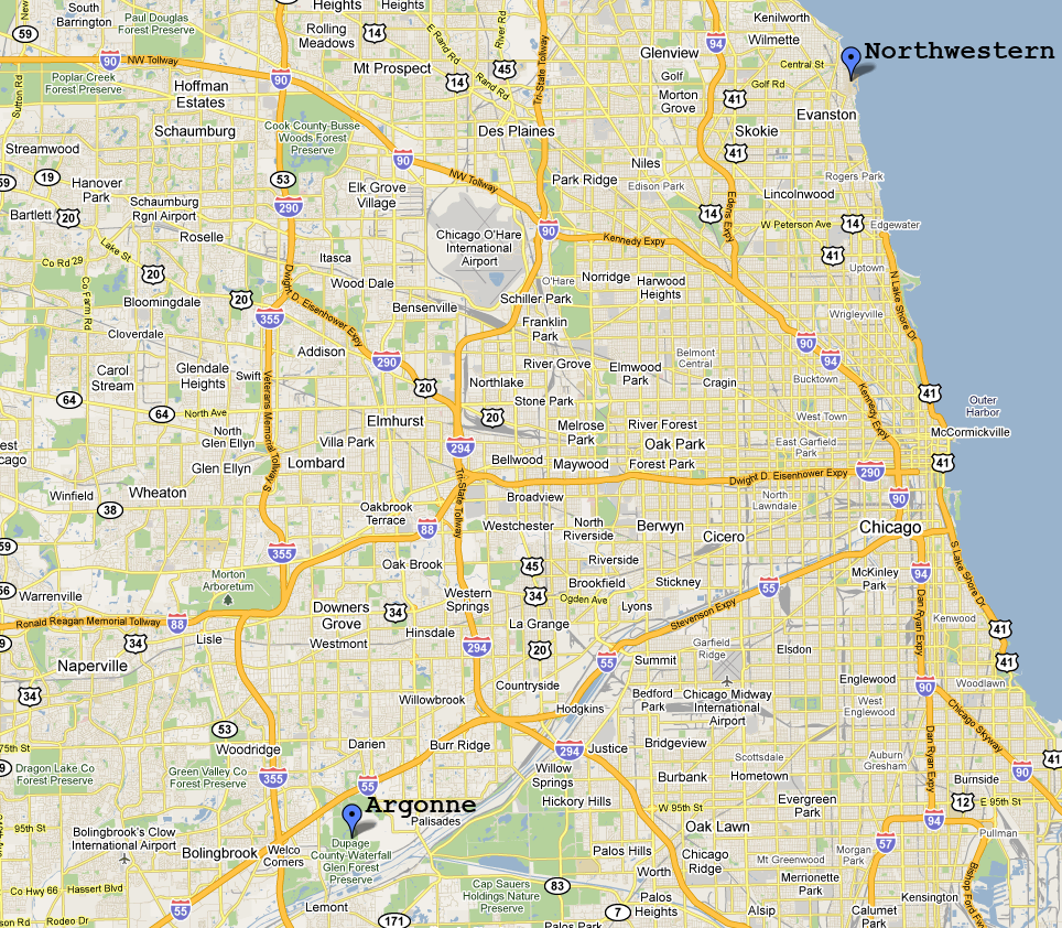 Map Of Chicago Area World Map - Chicago map northwest suburbs